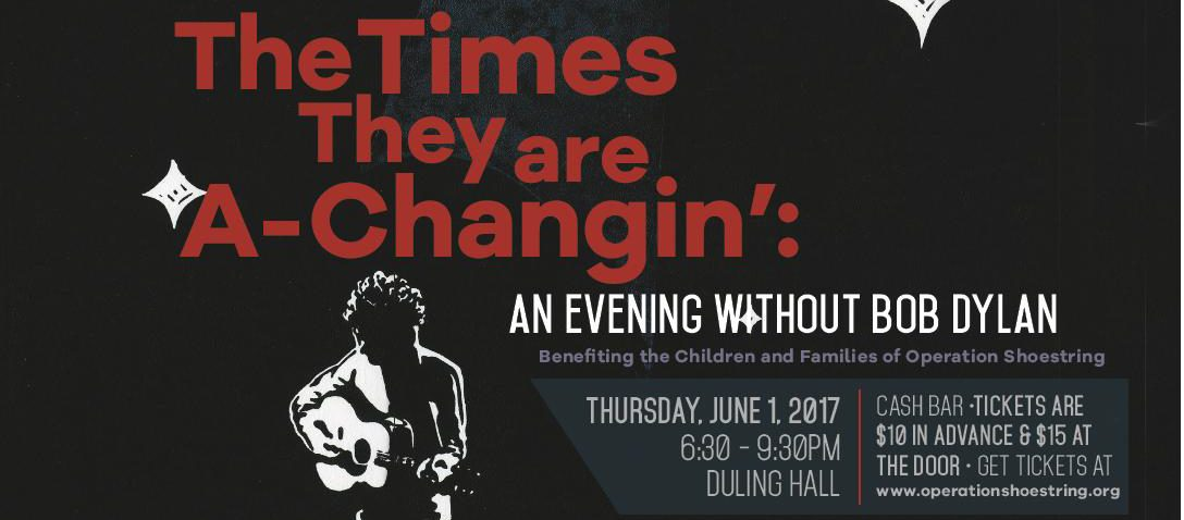 """An Evening Without Bob Dylan"" Music Event & Fundraiser Set for June 1"